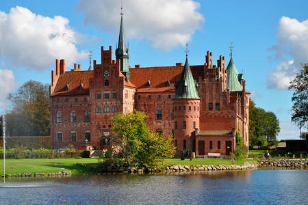 View of the Egeskov Castle