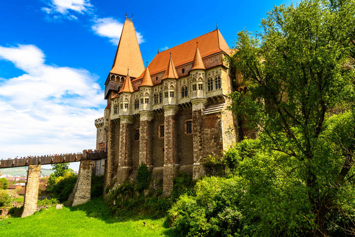 View of the Corvin castle