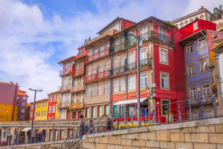 Houses on the waterfront of the Ribeira quarter