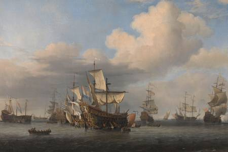 "Willem van de Velde (II): ""Captured English Ships after the Four Days' Battle"""
