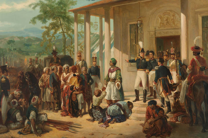 "Nicolaas Pieneman: ""The Arrest of Diepo Negoro by Lieutenant-General Baron De Kock"""