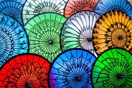 Traditional paper umbrellas
