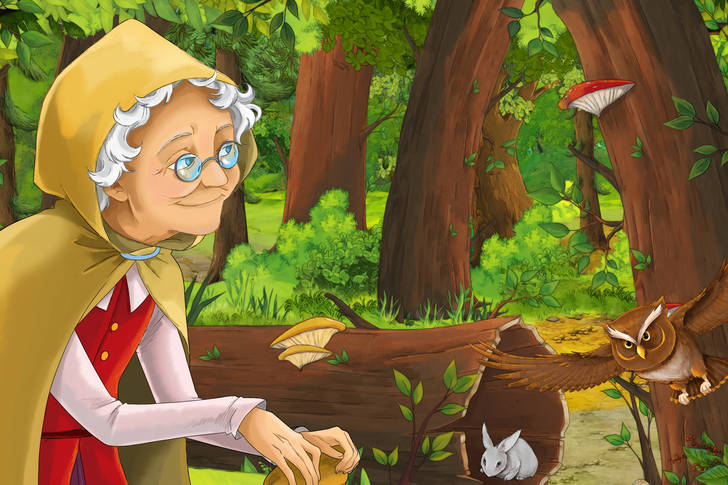 Granny in the woods