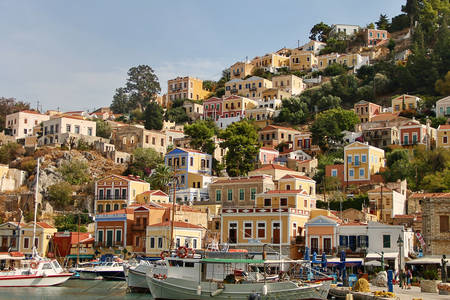 Architecture of buildings of Symi island