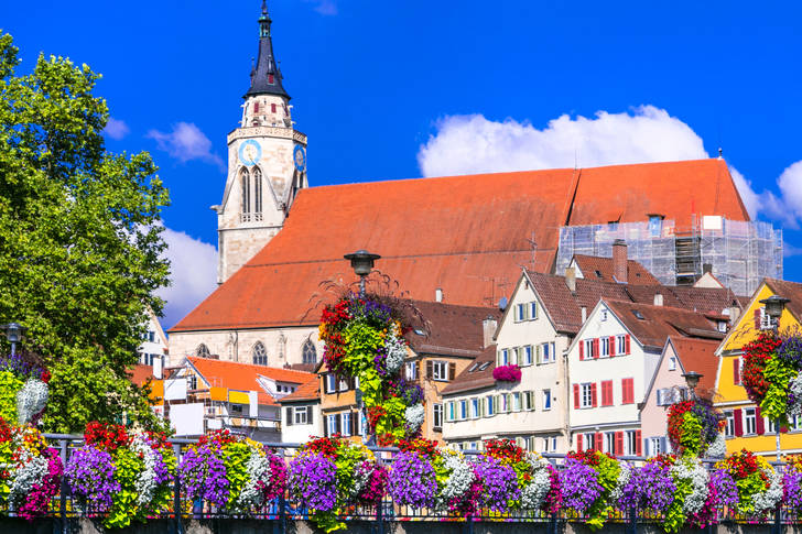 The colorful city of Tubingen