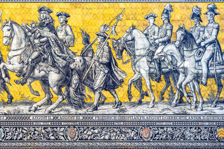 "Tiled panel ""Procession of Princes"""