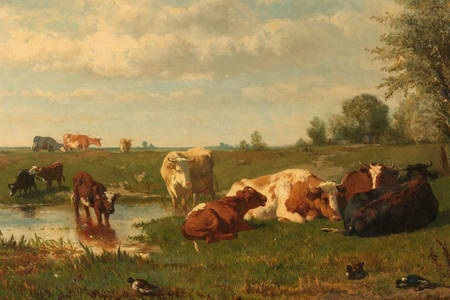"Gerard Bilders: ""Cows in the Meadow"""