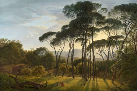 "Hendrik Voogd: ""Italian Landscape with Umbrella Pines"""
