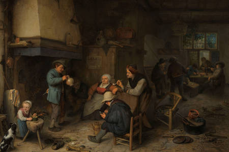 "Adriaen van Ostade: ""Peasants in the Interior"""
