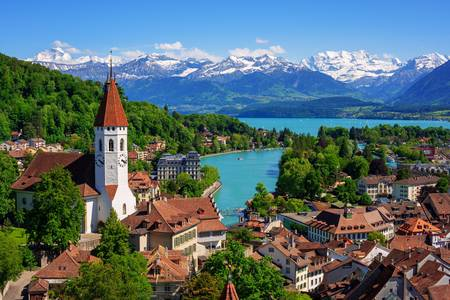 View of the city of Thun