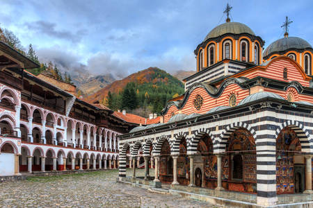 View of the Rila Monastery
