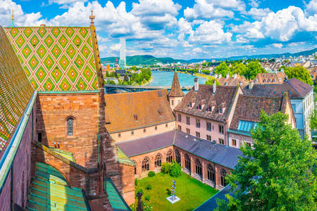 Basel Cathedral roofs