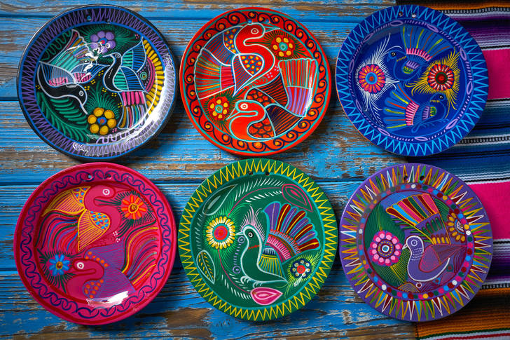 Painted Mexican Plates
