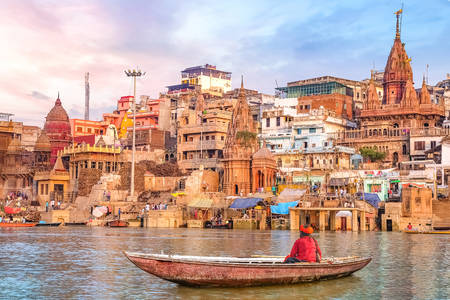Ancient architecture of Varanasi city