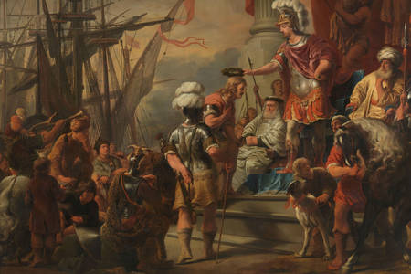 "Ferdinand Bol: ""Aeneas at the Court of Latinus"""