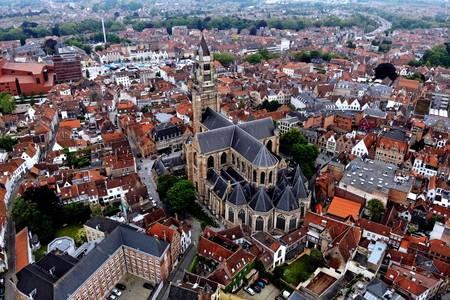 View of the Church of Our Lady in Bruges
