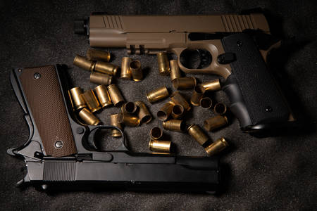 Pistols and casings