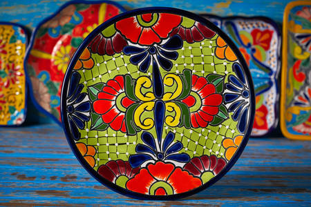 Mexican ceramic plate
