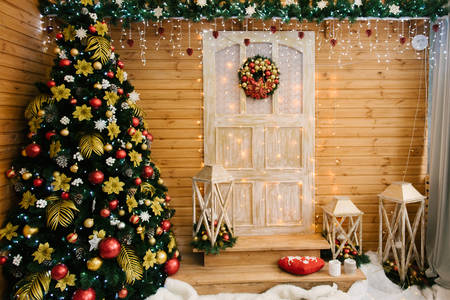 Outdoor home decoration for Christmas