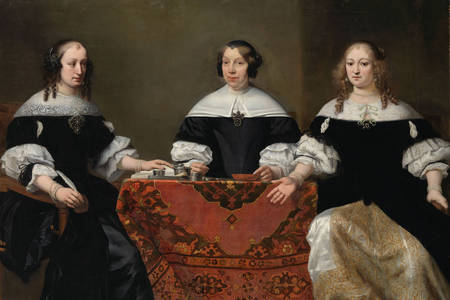 "Ferdinand Bol: ""Portrait of the Three Regentesses of the Leprozenhuis, Amsterdam"""