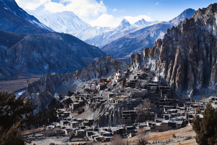 Braga village in the Himalayas