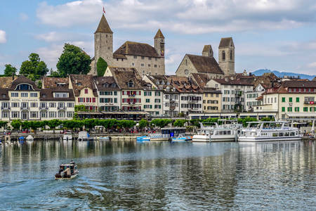Rapperswil-Jona on the shores of Lake Zurich