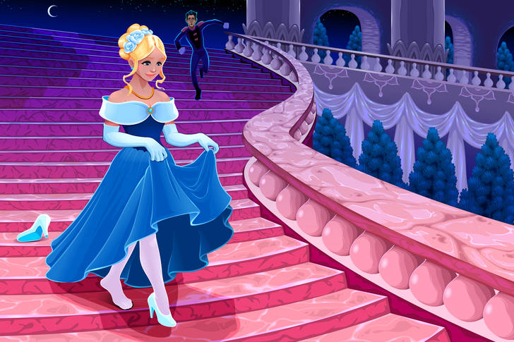 Cinderella at midnight