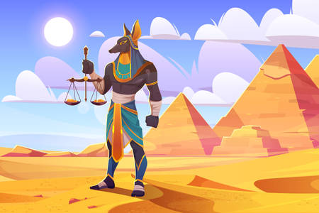 Egyptian god Anubis