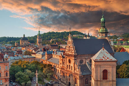 Sunset in Lviv