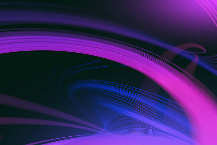 3D Abstraction: Purple Reflection