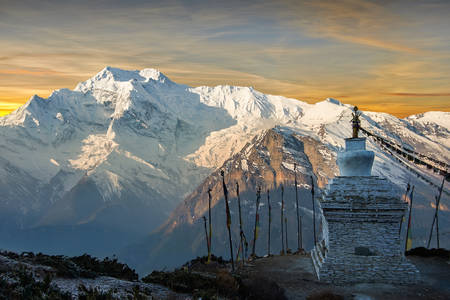 Dawn in the Annapurna Mountains