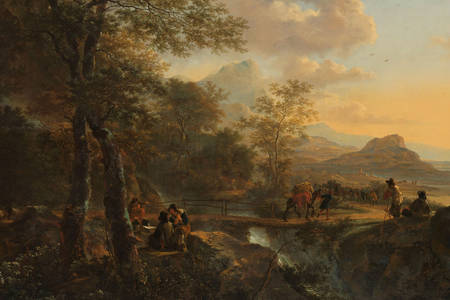 Jan Both: Italian Landscape with a Draughtsman