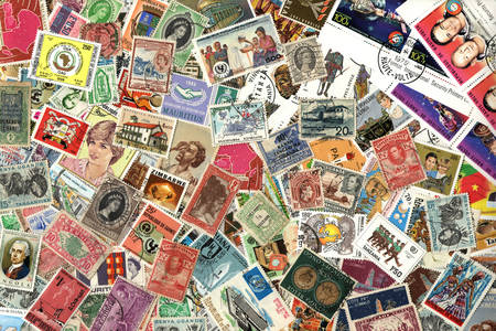 Antique stamps from different countries