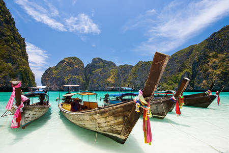 Boat in Maya Bay
