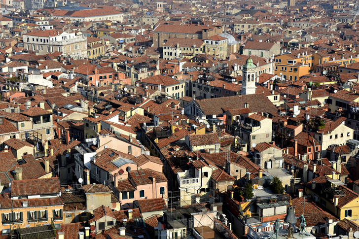 Roofs of houses in Venice