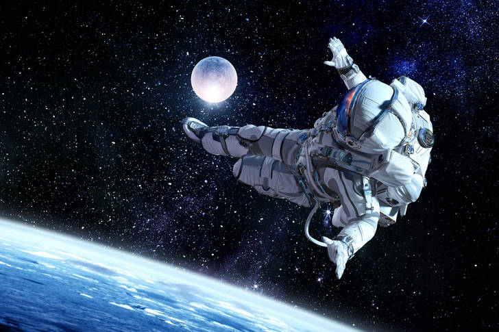 Cosmonaut in outer space