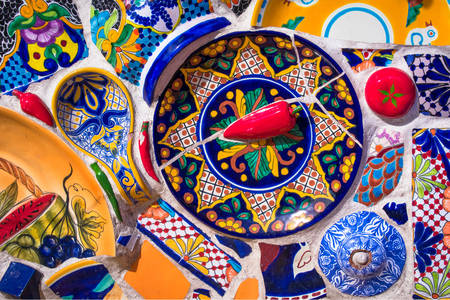 Colorful mexican mosaic