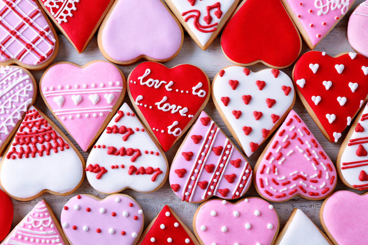 Cookies for the holiday of Love