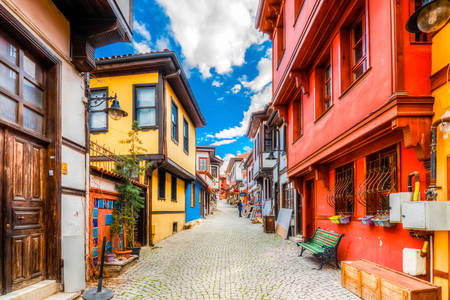 Colorful houses of Eskisehir