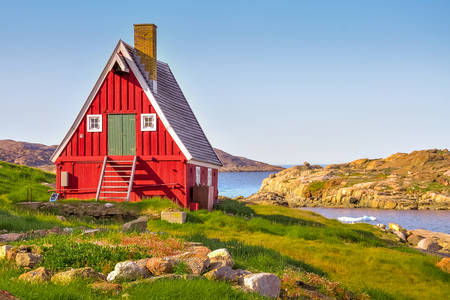 Houses in the south of Greenland