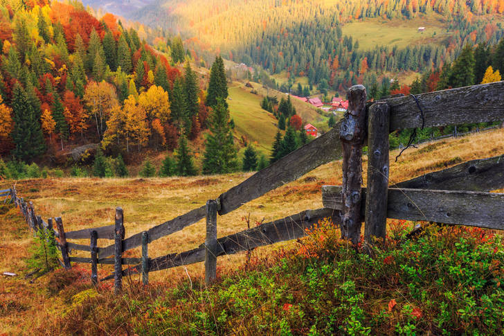 Autumn view in the mountains of Romania