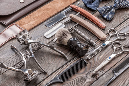 Vintage hairdressing tools