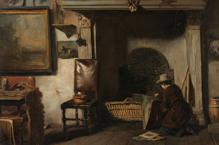 "Anton Mauve: ""The studio of the Haarlem painter Pieter Frederik van Os"""