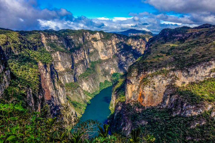 View of the Grihalva River in Sumidero Canyon