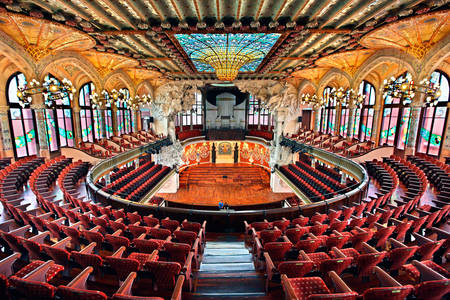 Concert Hall of the Palace of Catalan Music