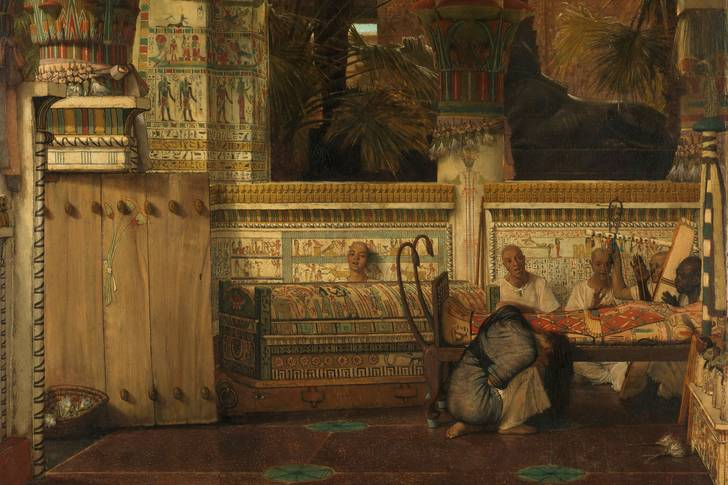 "Lawrence Alma-Tadema: ""Egyptian Widow"""