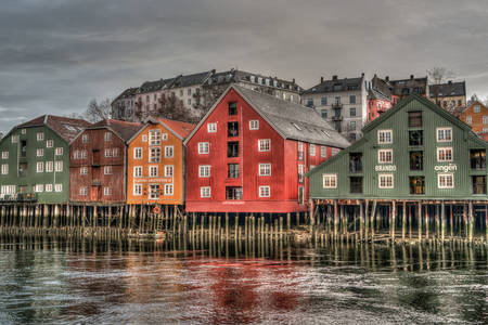 Houses on the water
