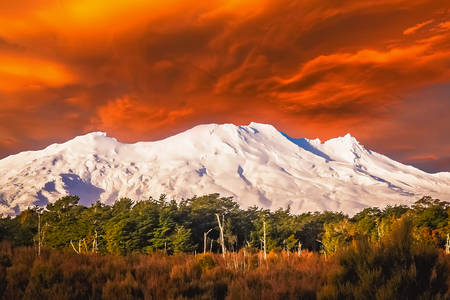 Beautiful Mount Ruapehu