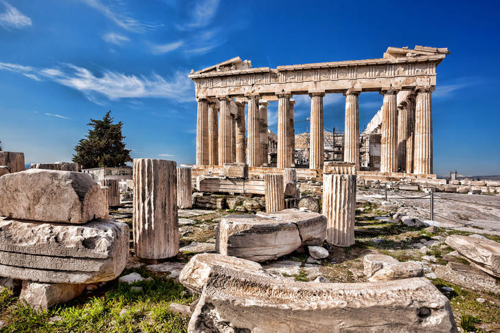 View of the Parthenon temple