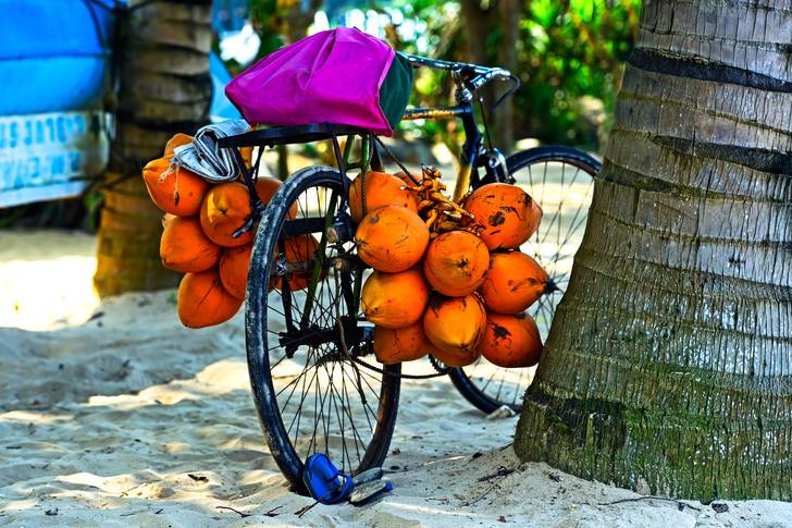 Tropical fruits by bike
